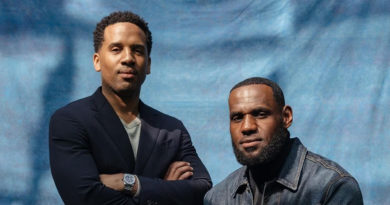 Lebron James and Business Partner Maverick Carter Pose for Bloomberg News